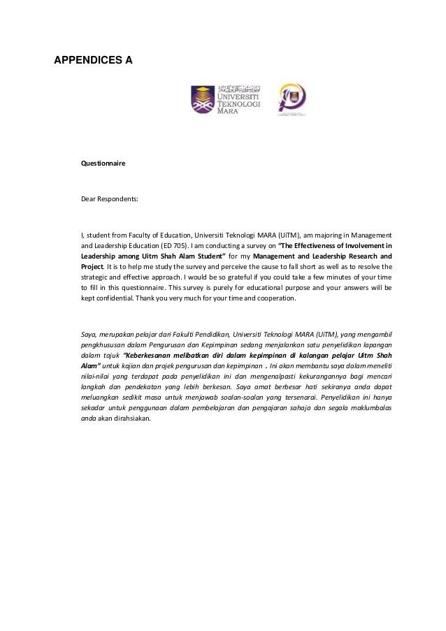 research survey cover letter