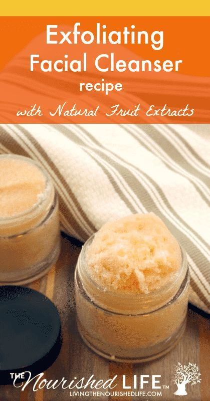 If you're looking to make your own DIY homemade facial cleanser, check out this super simple and easy recipe! This recipe is perfect for pore cleansing, exfoliating, and face masks and is made with natural fruit extracts! #diy #recipes #homemade #skincare | livingthenourishedlife.com