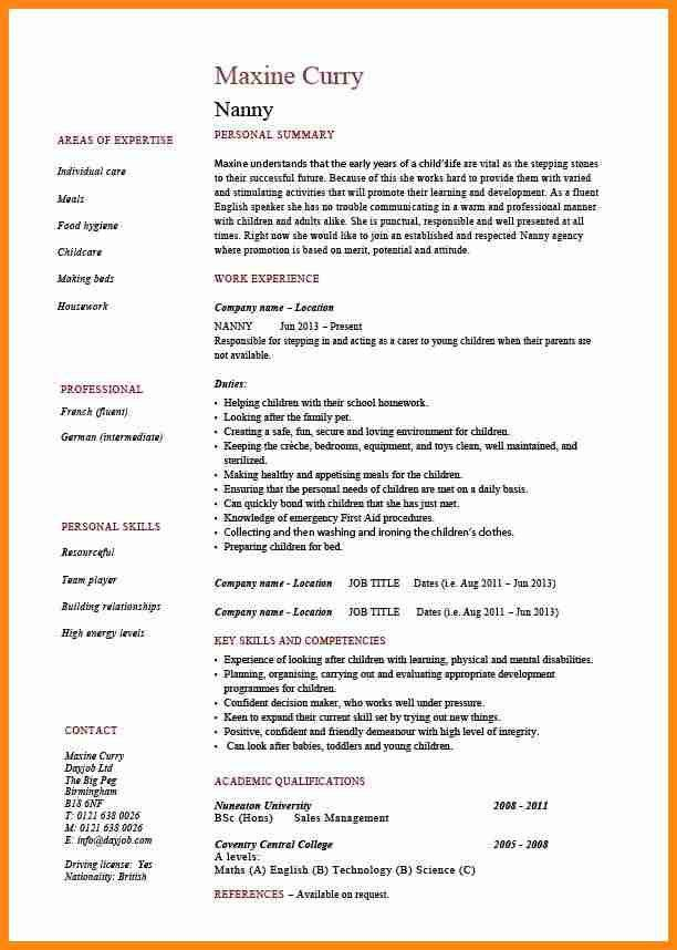Babysitter Resumes Unforgettable Babysitter Resume Examples To - resume for babysitting