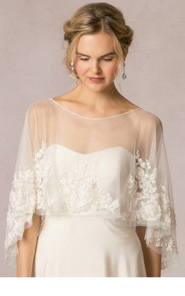 Cute wedding dress with cape