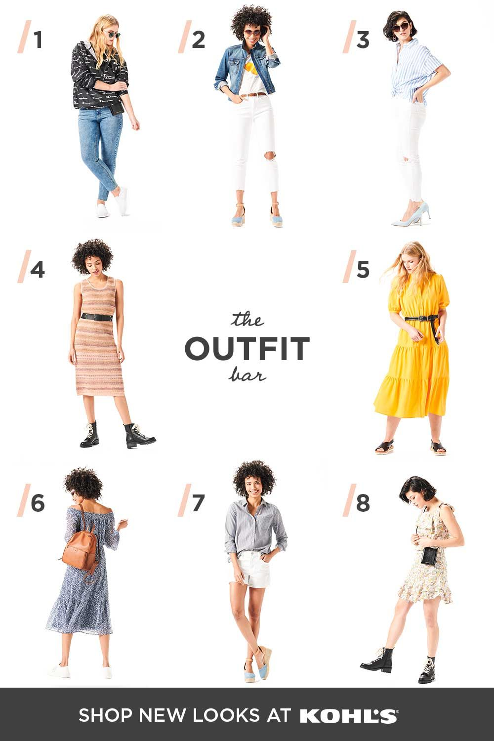 New looks from The Outfit Bar at Kohl's.