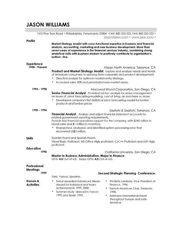 Example Of A Really Good Resume - Examples of Resumes - Really Good Resume