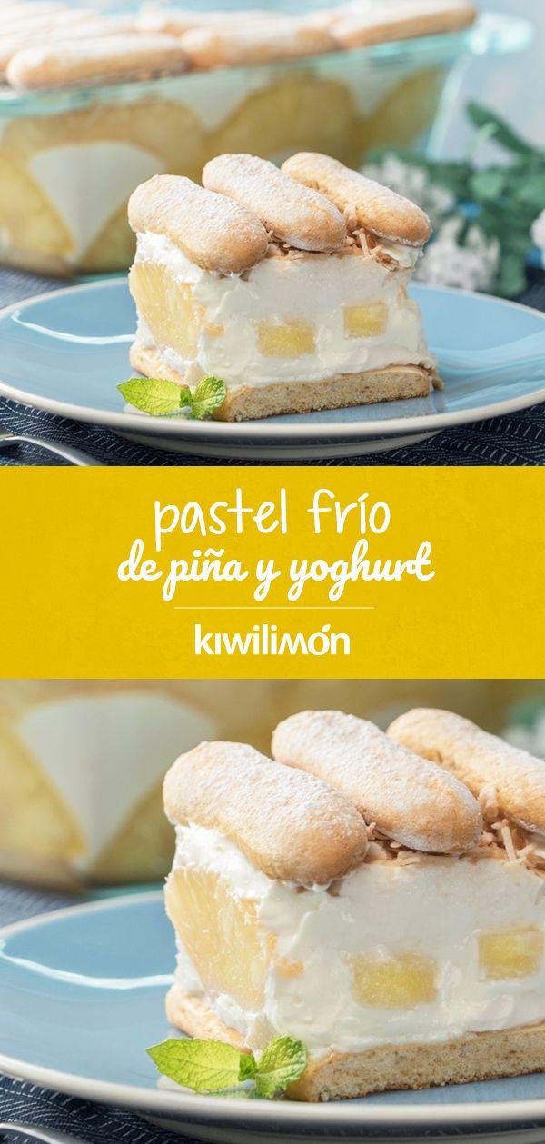 Pastel Frío de Piña y Yoghurt