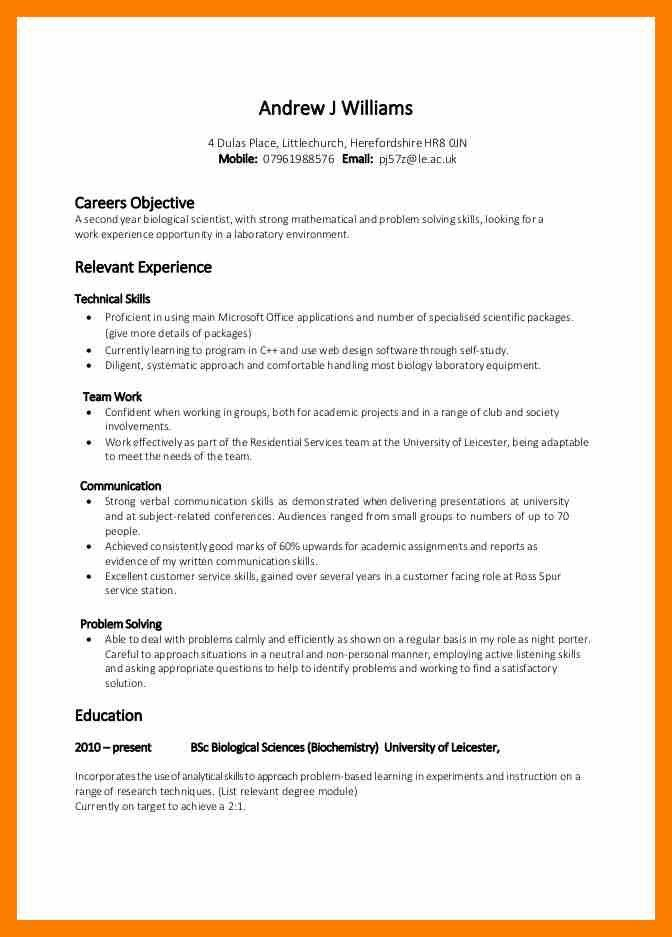 Problem Solving Skills Resume Example - Examples of Resumes