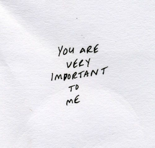 I hope you know that. You're my number one, babe.