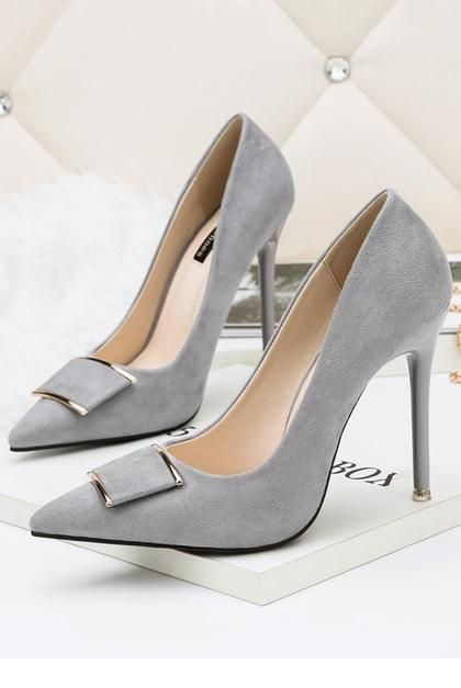 Chic grey pumps for office