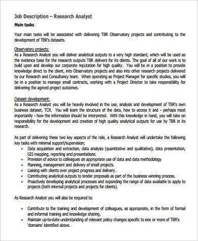 Reporting Analyst Job Description Job Openingpd Data Reporting - research analyst job description