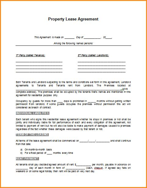 Car Lease Contract Template lease contract templatecar lease - rent contract templates