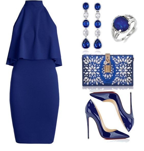 All blue classy style