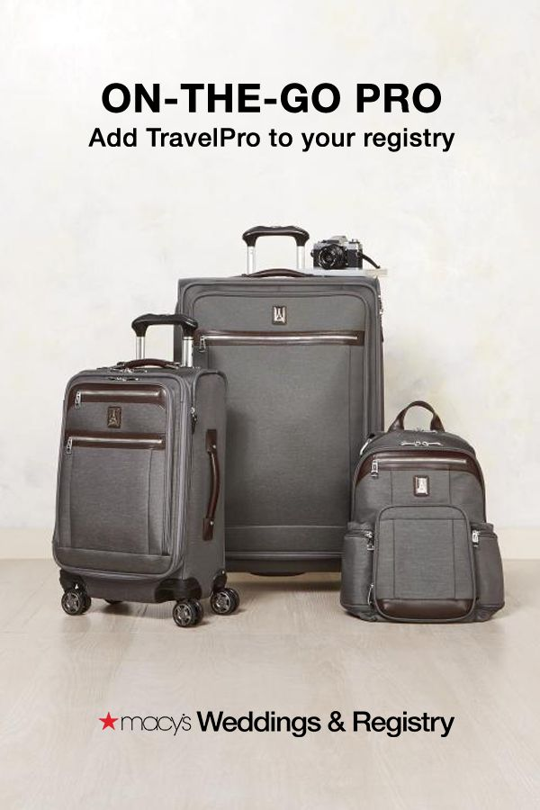Macy's Weddings & Registry Gift Idea | We have all the best brands and products that you and your groom will love. Don't forget to add this luggage set from TravelPro to take you to your honeymoon and beyond!