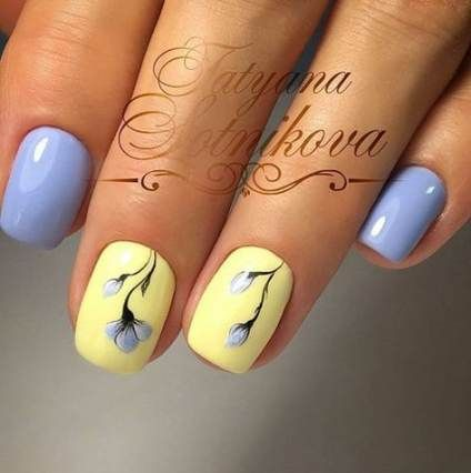 34 trendy nails colors blue purple #nails