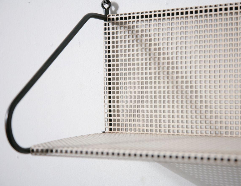 Pilastro Perforated Wall Mount Metal Book Shelf - Amsterdam Modern