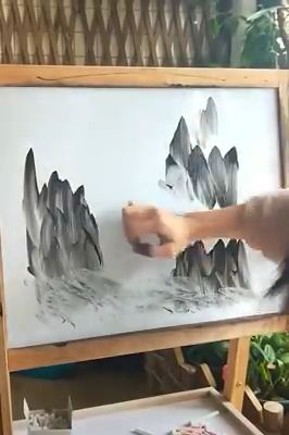 She got the real skills of painting.