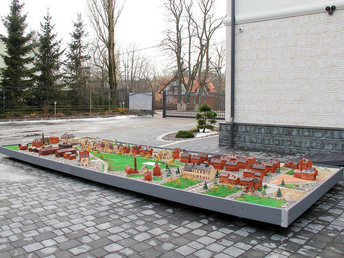 Керамический макет Пальмникена в поселке Янтарный