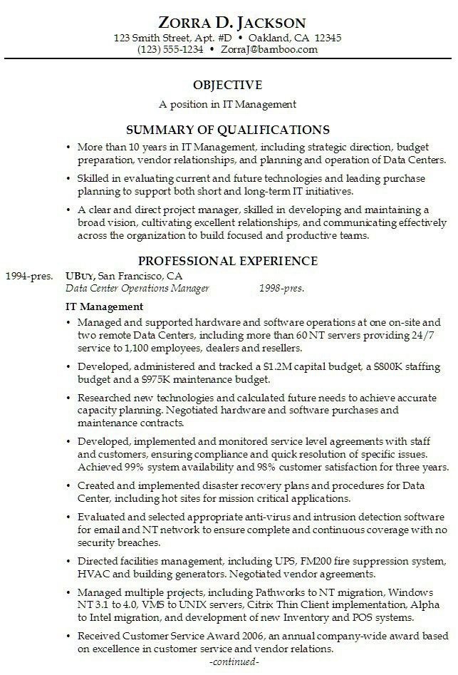 Professional Summary Example For Resume 4 Choose Create My Resume