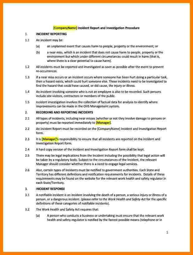How To Write A Daily Report Sample 8 How To Write Daily Report - safety report sample