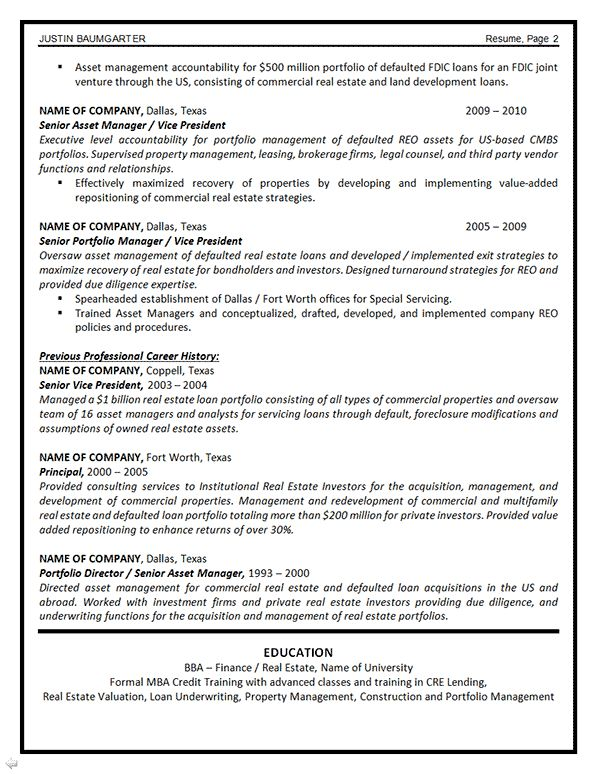 Fixed Assets Manager Sample Resume senior resume examples
