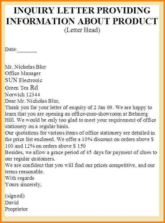 Sample Of Inquiry Letter Letters Of Inquiry, Formal Letters How - inquiry letter
