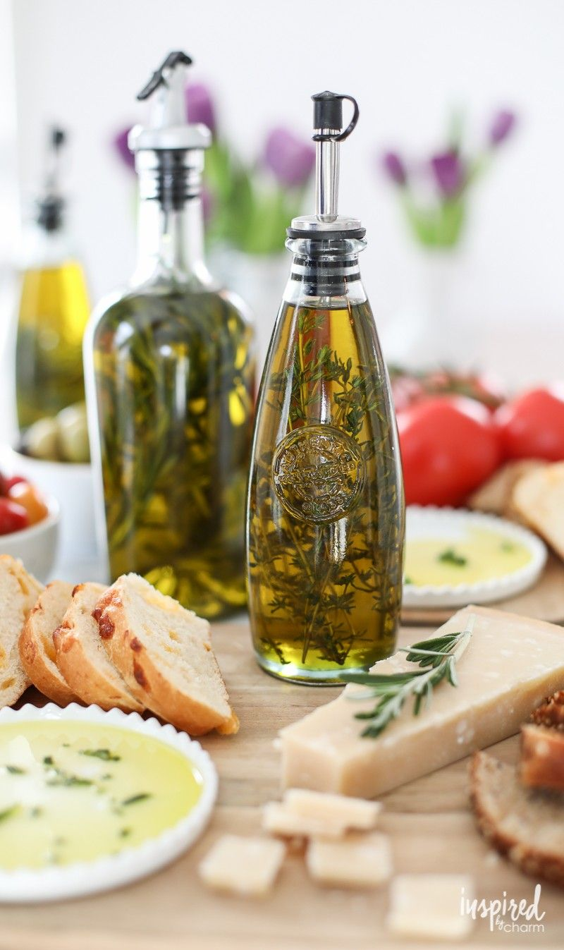 Do double duty this weekend. Entertain friends & family with homemade herbed olive oil made from herbs grown at home. [ad]