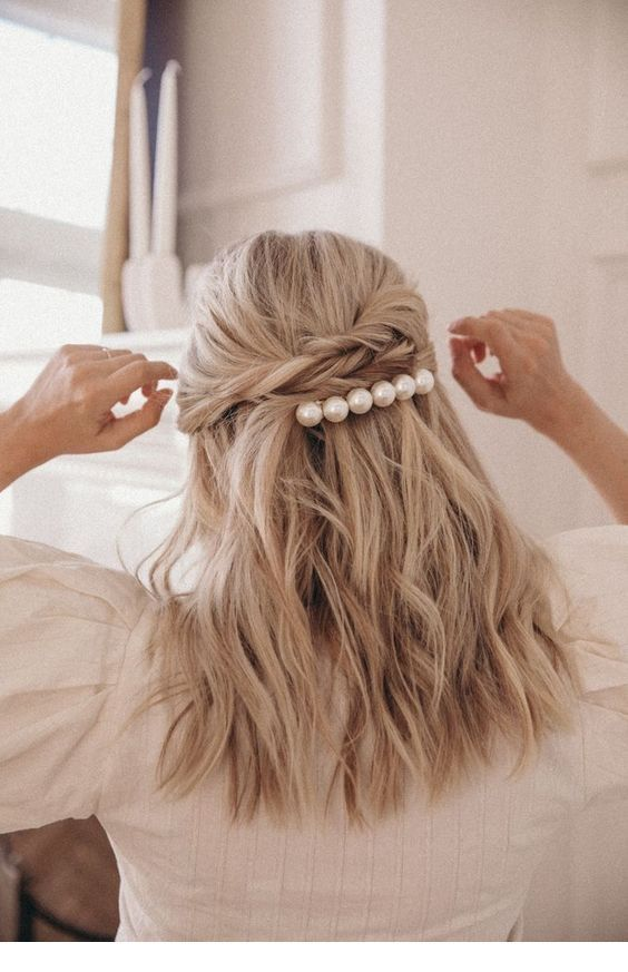 I like this hair pin with pearls