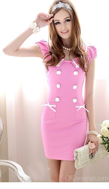 Very sweet pink office dress