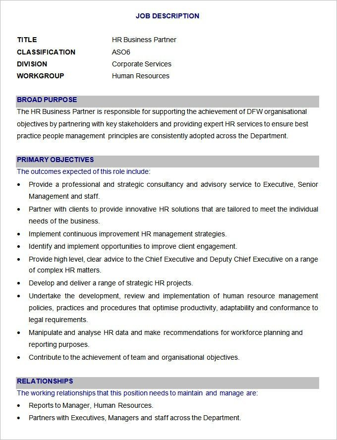 Duties Of Hr Manager Role Of Hr Manager, Introduction To Human - human resources job description