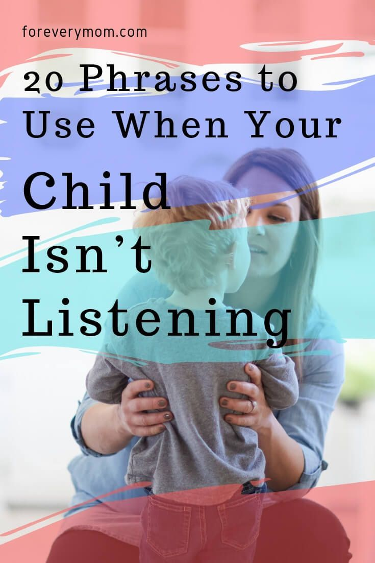 Check out these 20 alternative phrases to use when your child just isn't listening.  #parenting #listen #kidslisten #listenup #motherhood #ChristianMom #Christianfamily