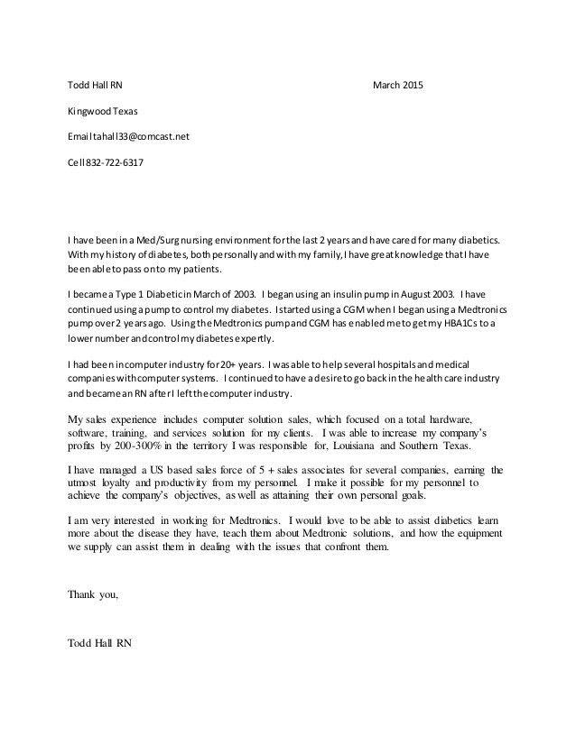 sample medical sales cover letter