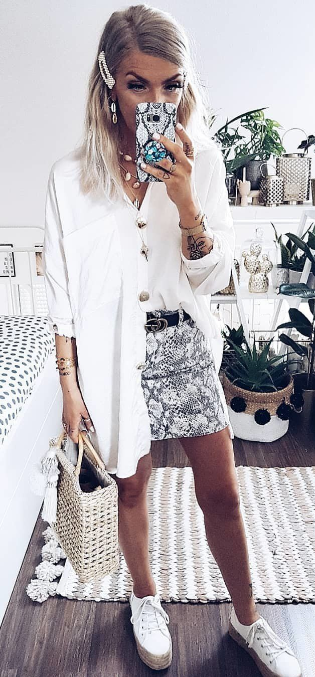 white coat #summer #outfits