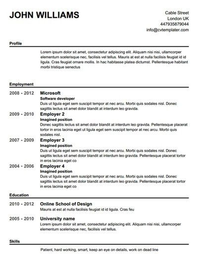 make resume free 25 best ideas about free resume builder on build free resume online