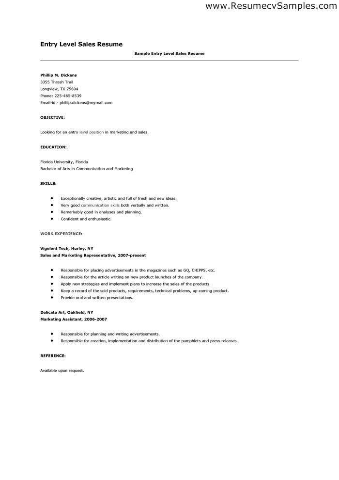 How To Write Entry Level Resume Entry Level Resume Example Sample