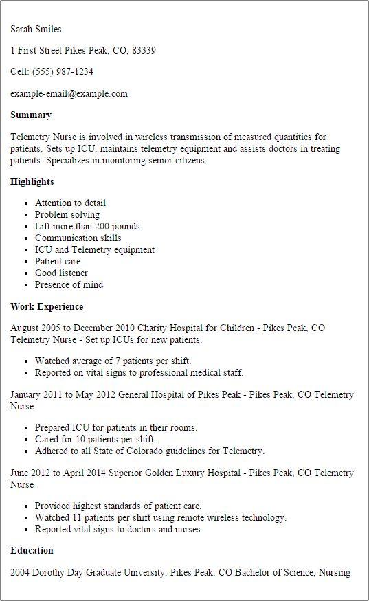 Icu Nurse Job Description Head Nurse Intensive Care Unit Icu Job - telemetry rn resume