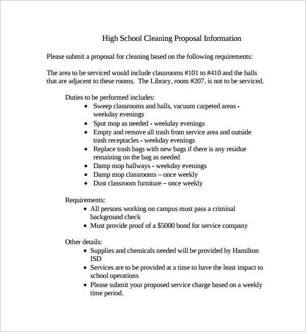 Service Proposal Template Service Proposal Template 8 Free Word - cleaning proposal letter