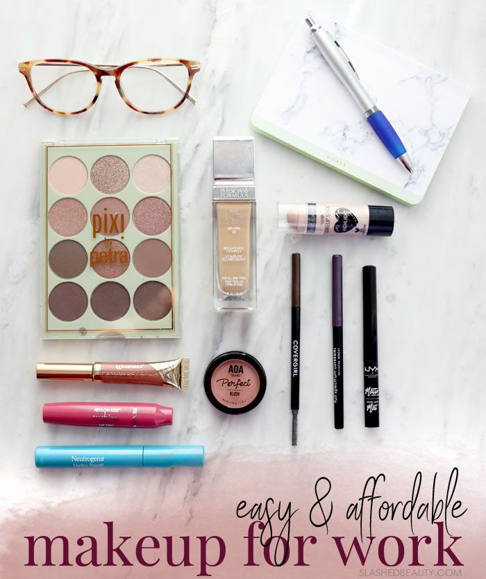 These makeup products are perfect for an easy makeup routine for work. Perfect for a subtle look with a small pop of color.