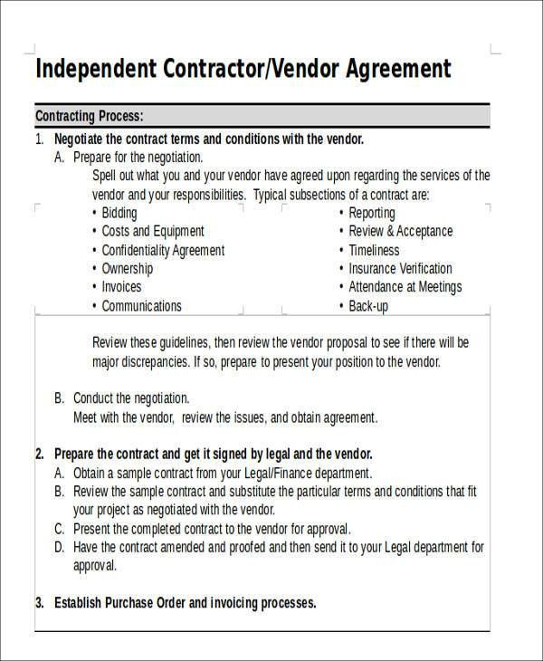 Vendor Contract Agreement 10 Vendor Agreement Templates Free - vendor confidentiality agreement