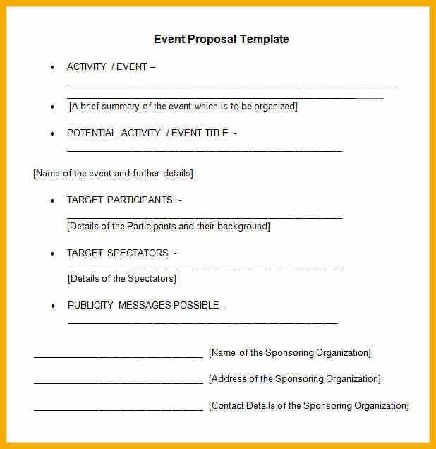 Event Proposal Sample Letter Sample Event Proposal Letter 7 - event proposal letters