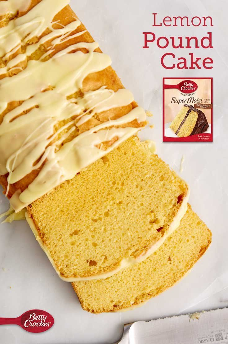 A fresh lemon pound cake tastes incredible on a warm spring day—or any day of the year! Betty Crocker cake mix makes it as easy as it is decadent.