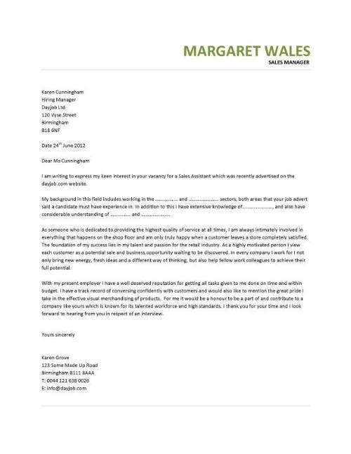 Sales Manager Cover Letter Examples Resume Resume Cover Letter - sample cover letter for sales job