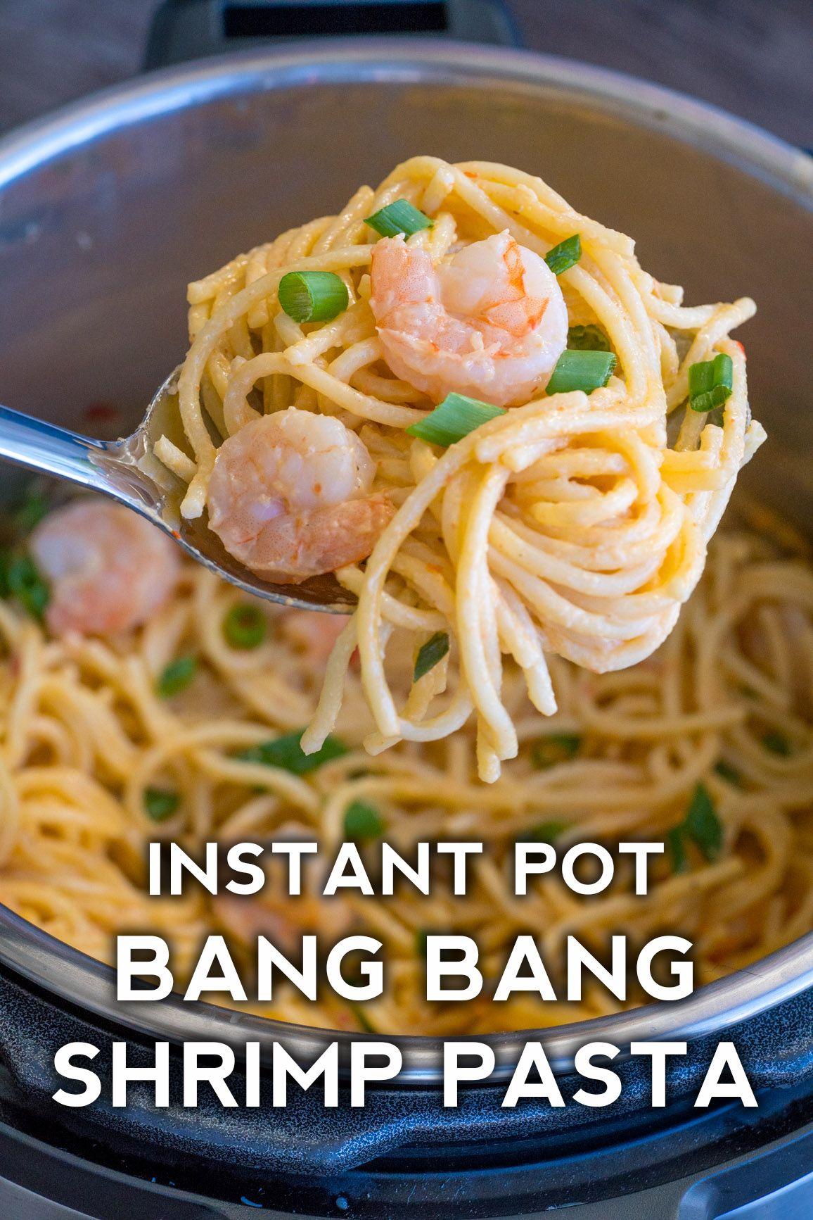 Instant Pot Bang Bang Shrimp Pasta