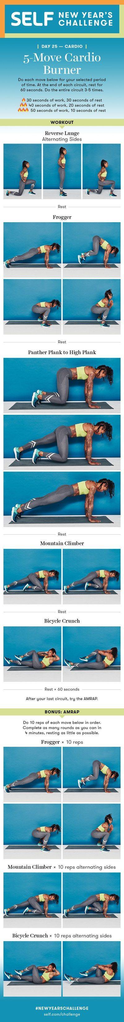 5-Move No-Equipment Cardio Burner