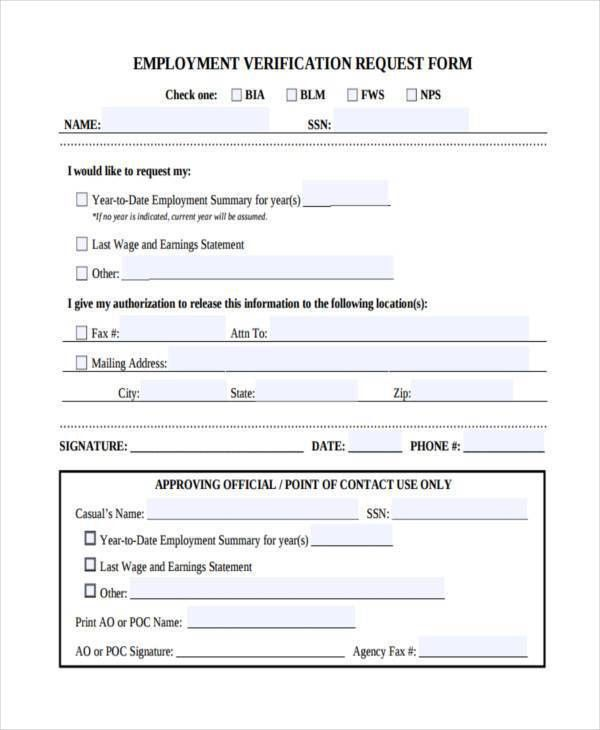 employment verification form sample node2002-cvresumepaasprovider
