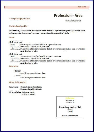 Resume Template In Spanish Professional Spanish Teacher Templates - spanish resume template
