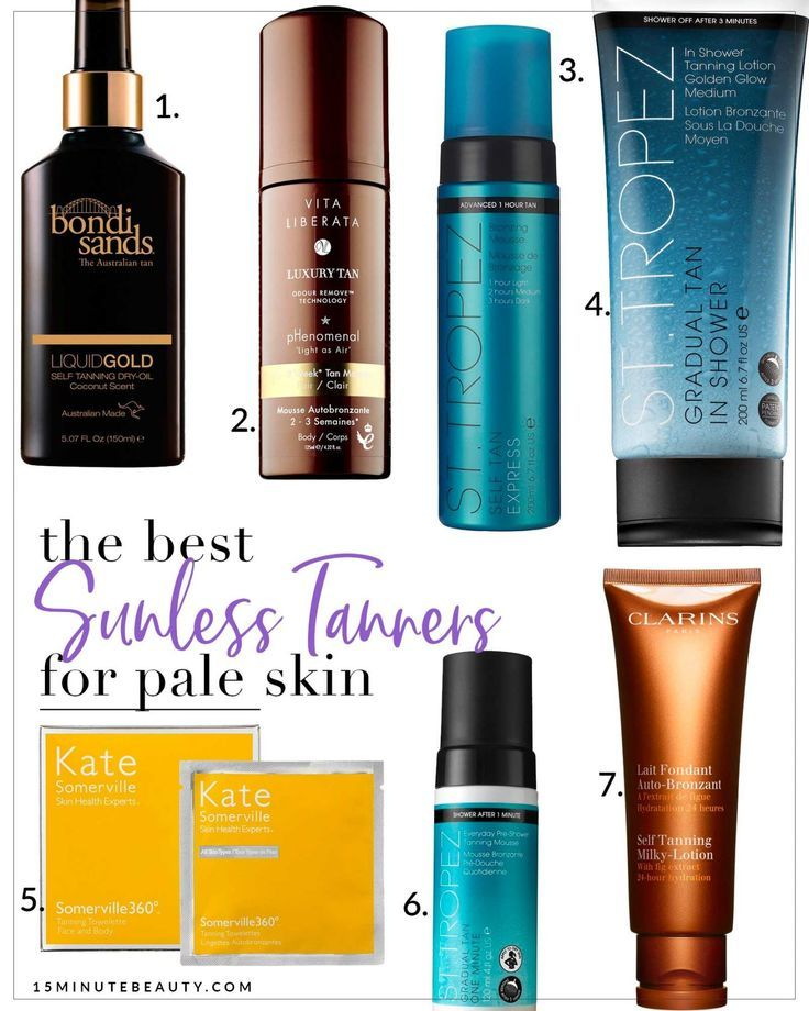 Great Self Tanners for Fair Skin The best sunless tanners for pale skin! No orange streaks, just the perfect self tanner glow!