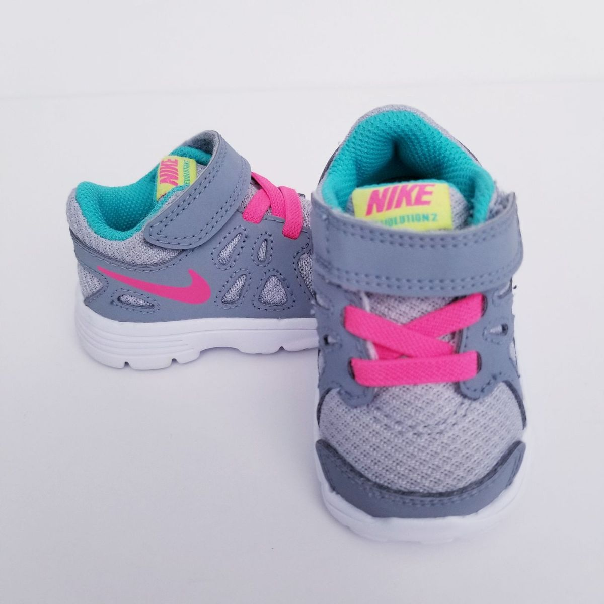 Nike Revolution ll Toddler Size 2c In Very Good Condition! #nike #shoes #athletic ☺☺☺ If you're not happy with your order, LET ME KNOW BEFORE YOU RATE and ill approve a return request! This will give you a refund once the item is returned. MUST SUBMIT REQUEST TO THEM WITHIN 2 DAYS OF RECEIVING ITEM! ☺☺☺ ALL of the pictures are mine, what you see is what you get.
