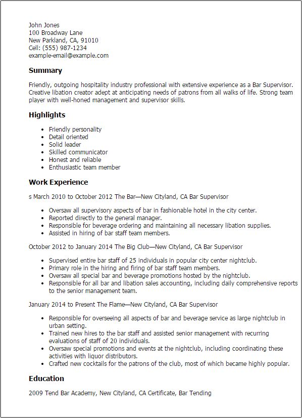 bar manager resume examples sample bar manager resume ideas on