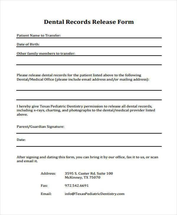 Printable Sign In Sheets For Doctors Office Printable Sign In - dental records release form