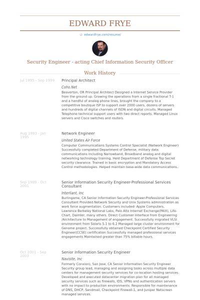 System Architect Resume Create My Cv
