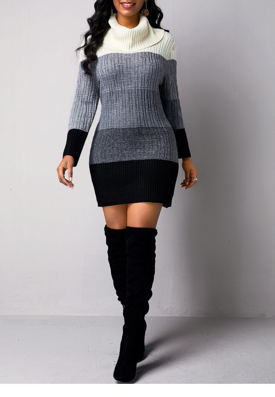 Sweater dress for winter