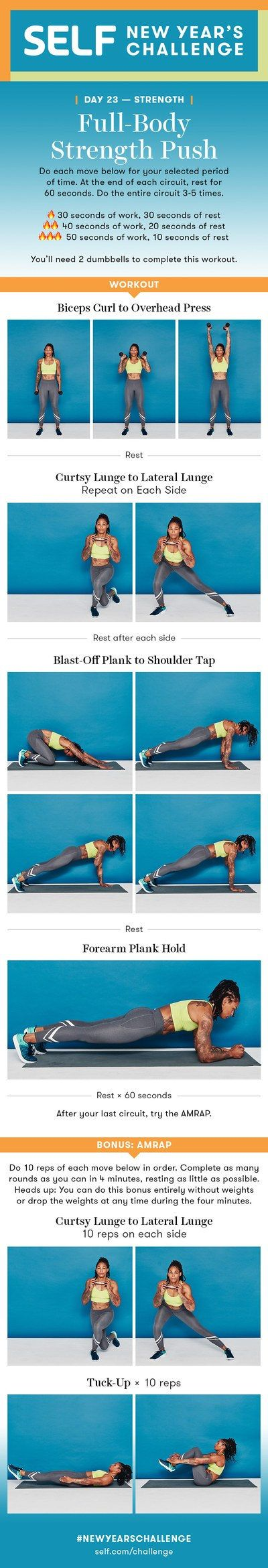 Full-Body Strength Workout With Dumbbells