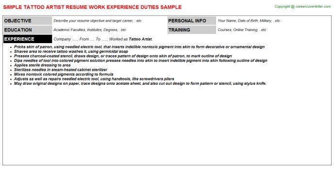 artist resume objective makeup artist resume sample artist tattoo artist resume - Artist Resume Objective
